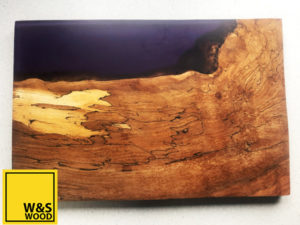 Was Wood River resin chopping board, purple