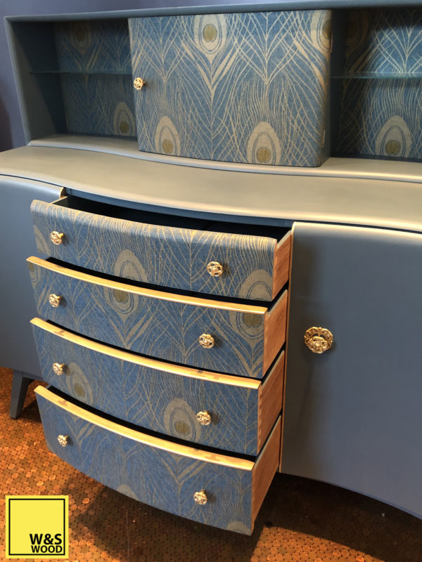 Beautility blue peacock unit drawers