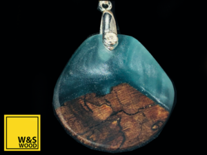 Was wood Ash and resin pendant