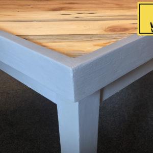 Triangular pattern wooden table