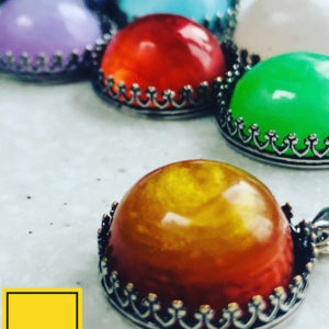 Birthday colour domed pendants