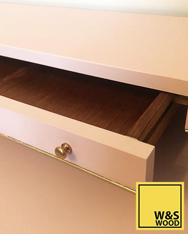 Pink geometric unit drawer top