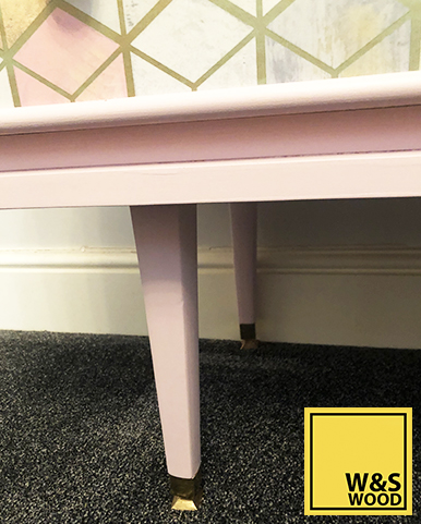 Pink geometric unit drawer legs