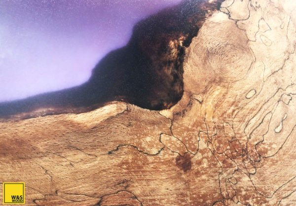 Was Wood Co chopping board purple resin