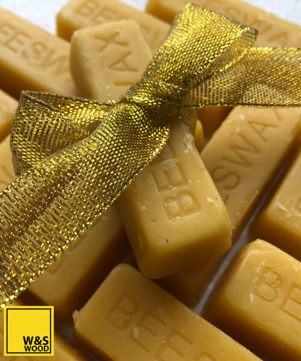Multiple beeswax bars 1 with a golden bow