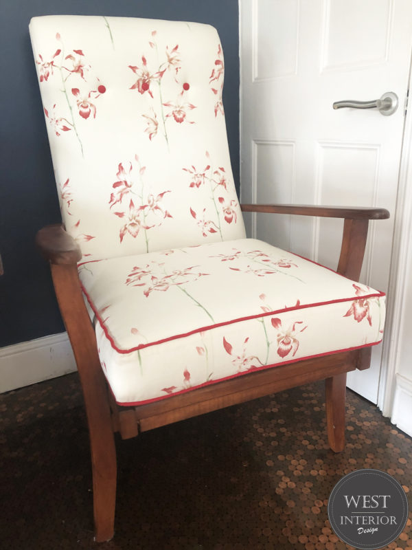 Sanderson orchid fireside chair
