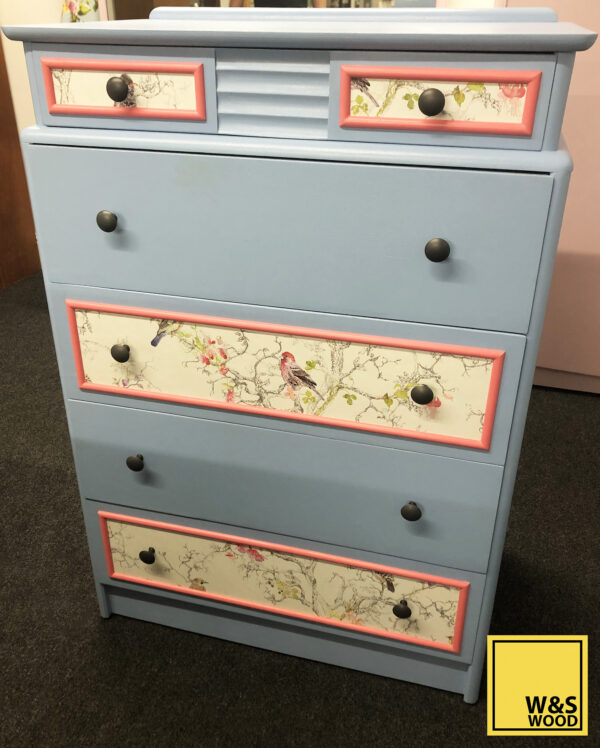 blue stag dresser front view