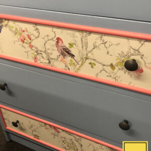 Stag blue bird chest of 5 drawers