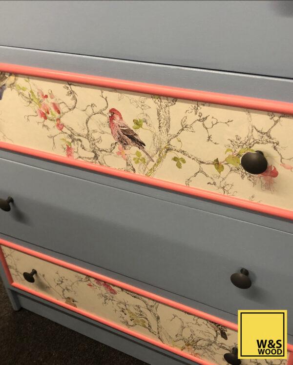 blue stag dresser drawer front