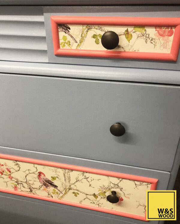 Stag blue bird dresser