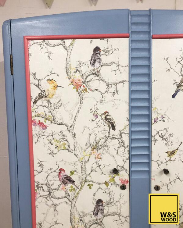 blue bird wardrobe front view