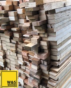 Wood strips ready for chopping boards