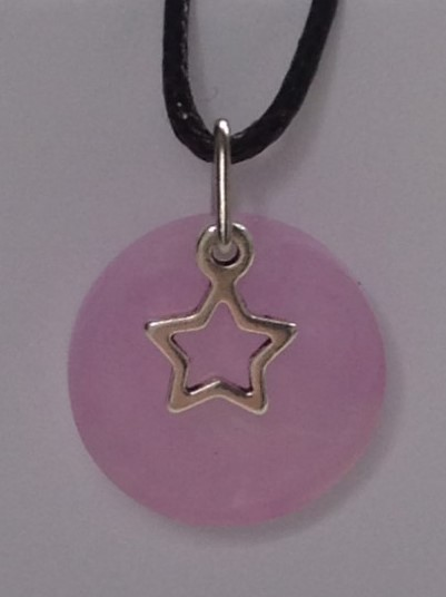 pink hollow star