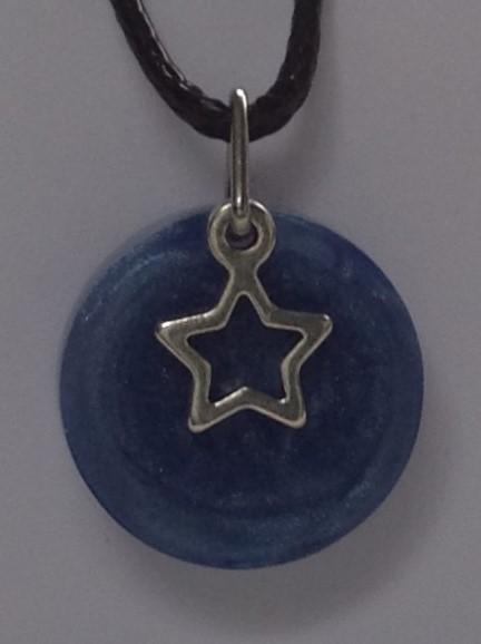 dark blue hollow star