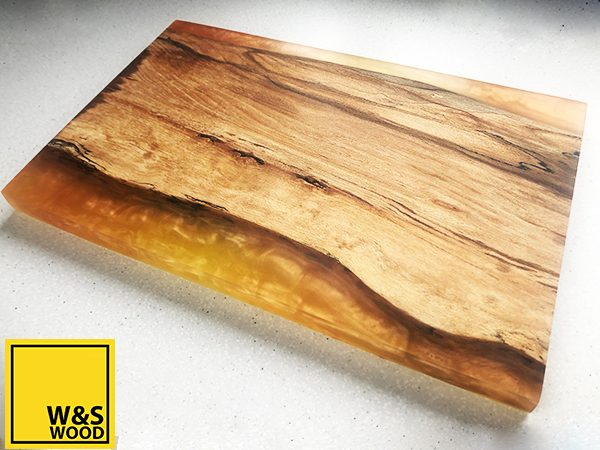 Jaffa orange resin chopping board